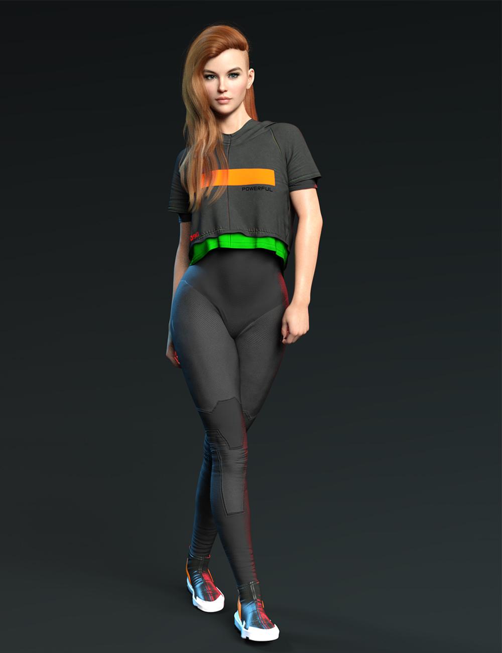 X-Fashion dForce Space Bodysuit Set by: xtrart-3d, 3D Models by Daz 3D