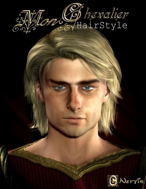 Mon Chevalier Hair by: Neftis3D, 3D Models by Daz 3D