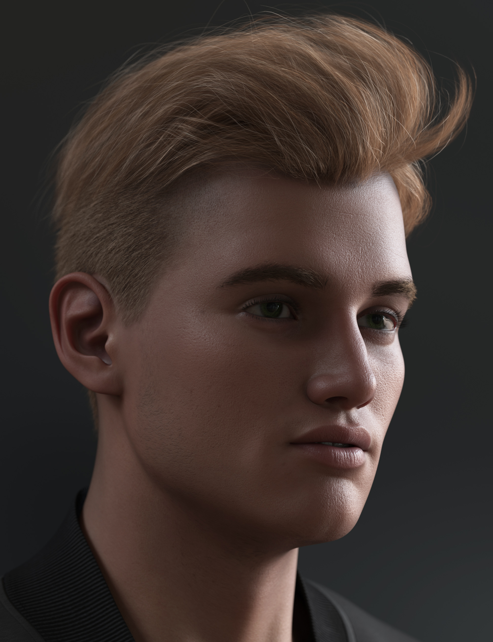 Tjark Short Hair for Genesis 8 and 8.1 Males by: outoftouch, 3D Models by Daz 3D