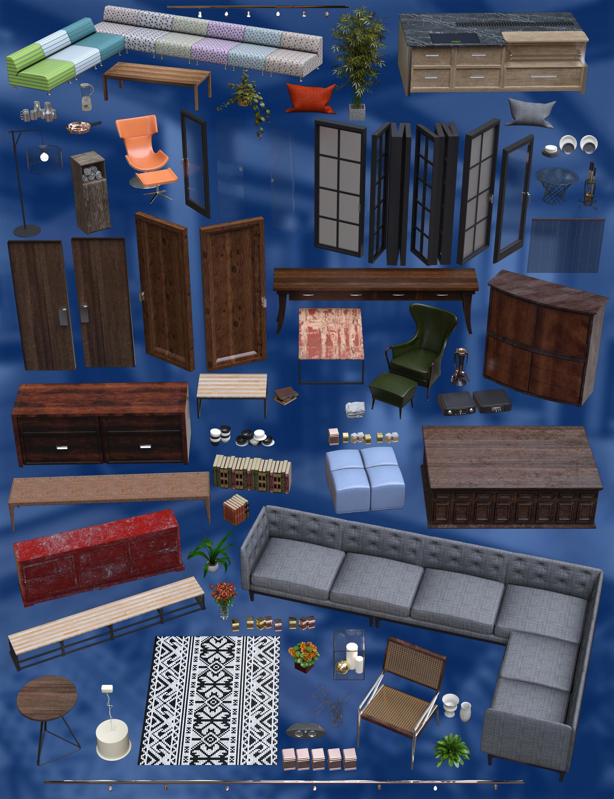 Timeless Loft Props by: bituka3d, 3D Models by Daz 3D