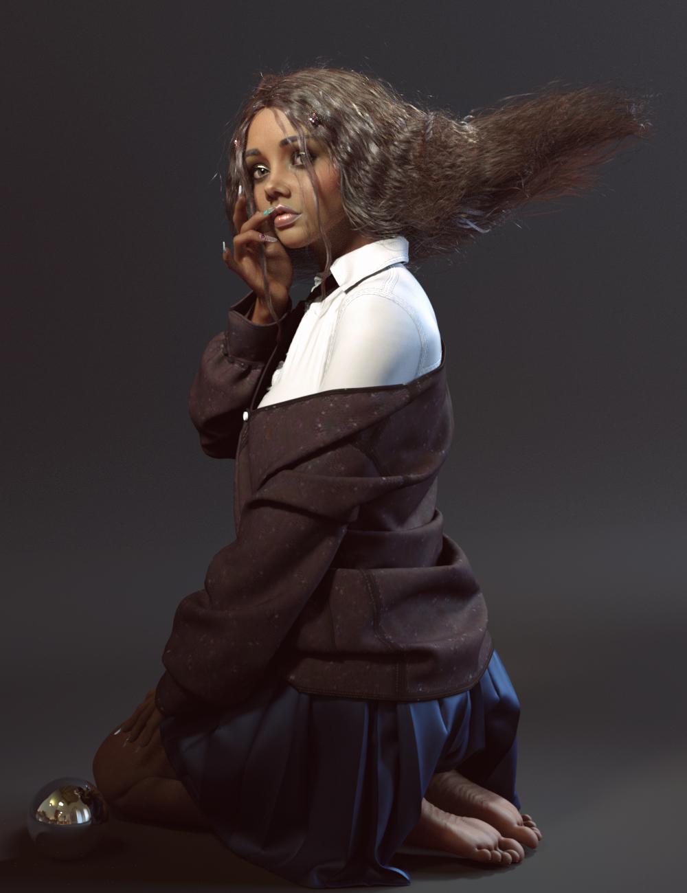 RN HD Alisa and Alisa Hair for Genesis 8 Female by: RareStoneNirvana, 3D Models by Daz 3D