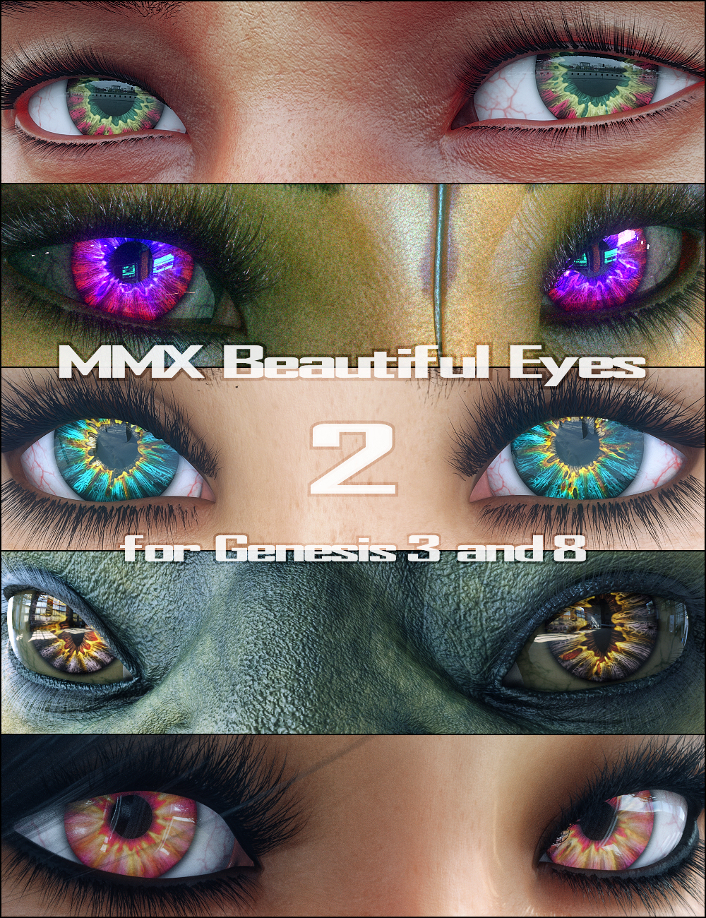 MMX Beautiful Eyes 2 for Genesis 3 and 8 by: Mattymanx, 3D Models by Daz 3D