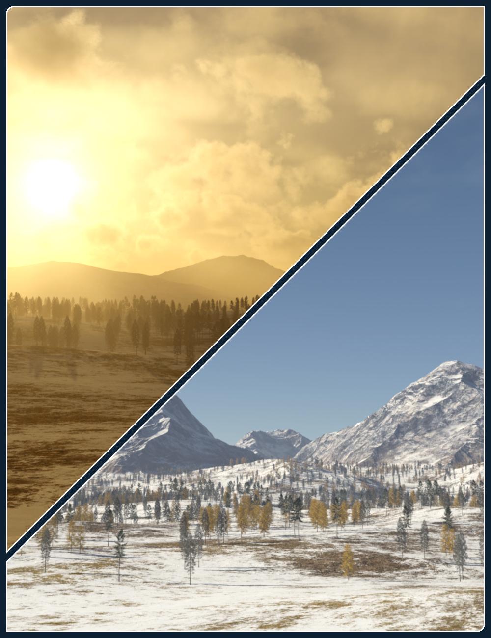 Winter Fields Skyspheres/HDRIs by: Flipmode, 3D Models by Daz 3D