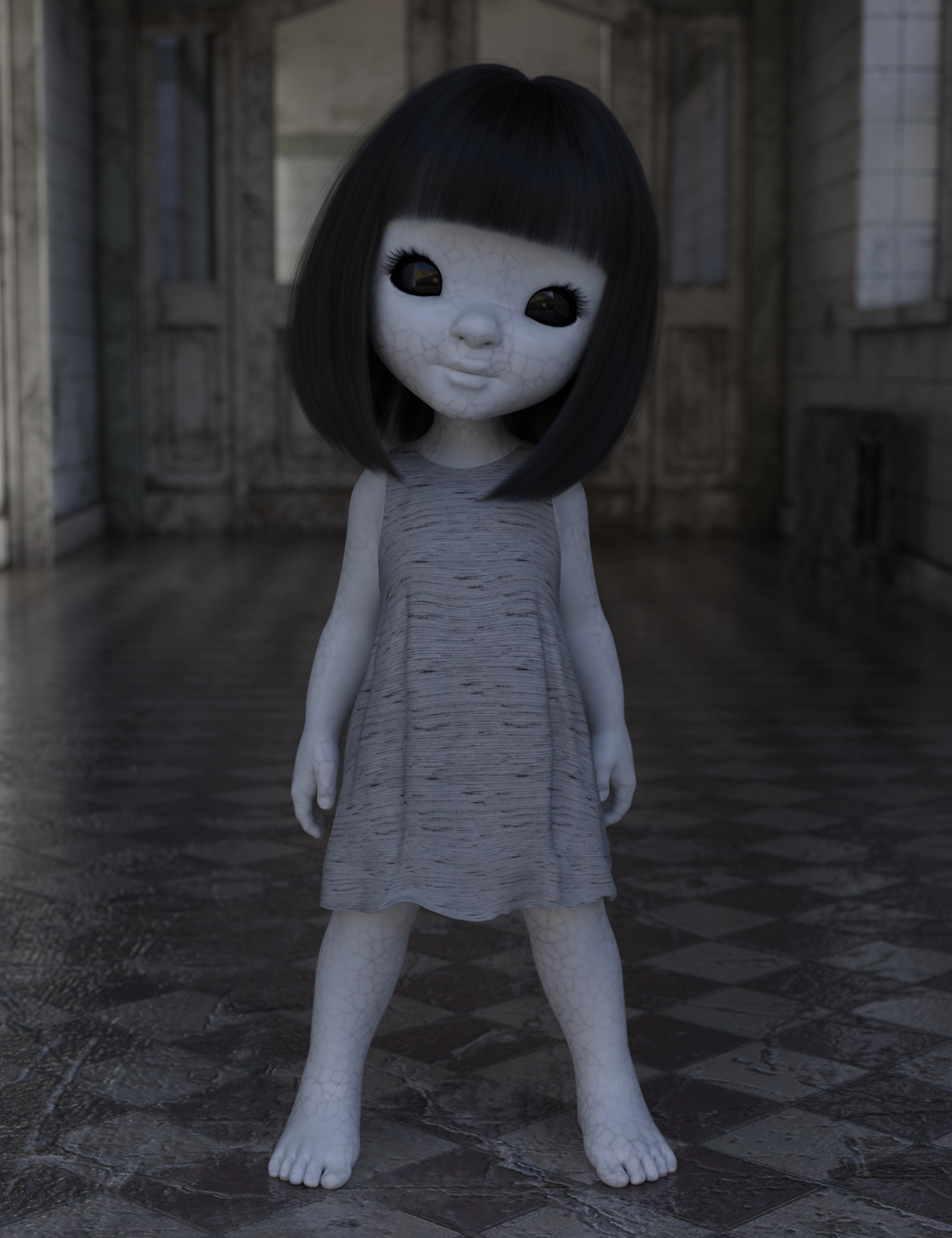 Spooky Doll Textures for Bugga Boo by: Moonscape GraphicsSade, 3D Models by Daz 3D