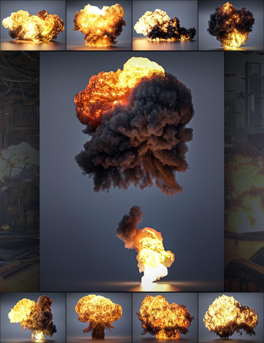 Pyromantix - Volumetric Explosions by: DimensionTheory, 3D Models by Daz 3D