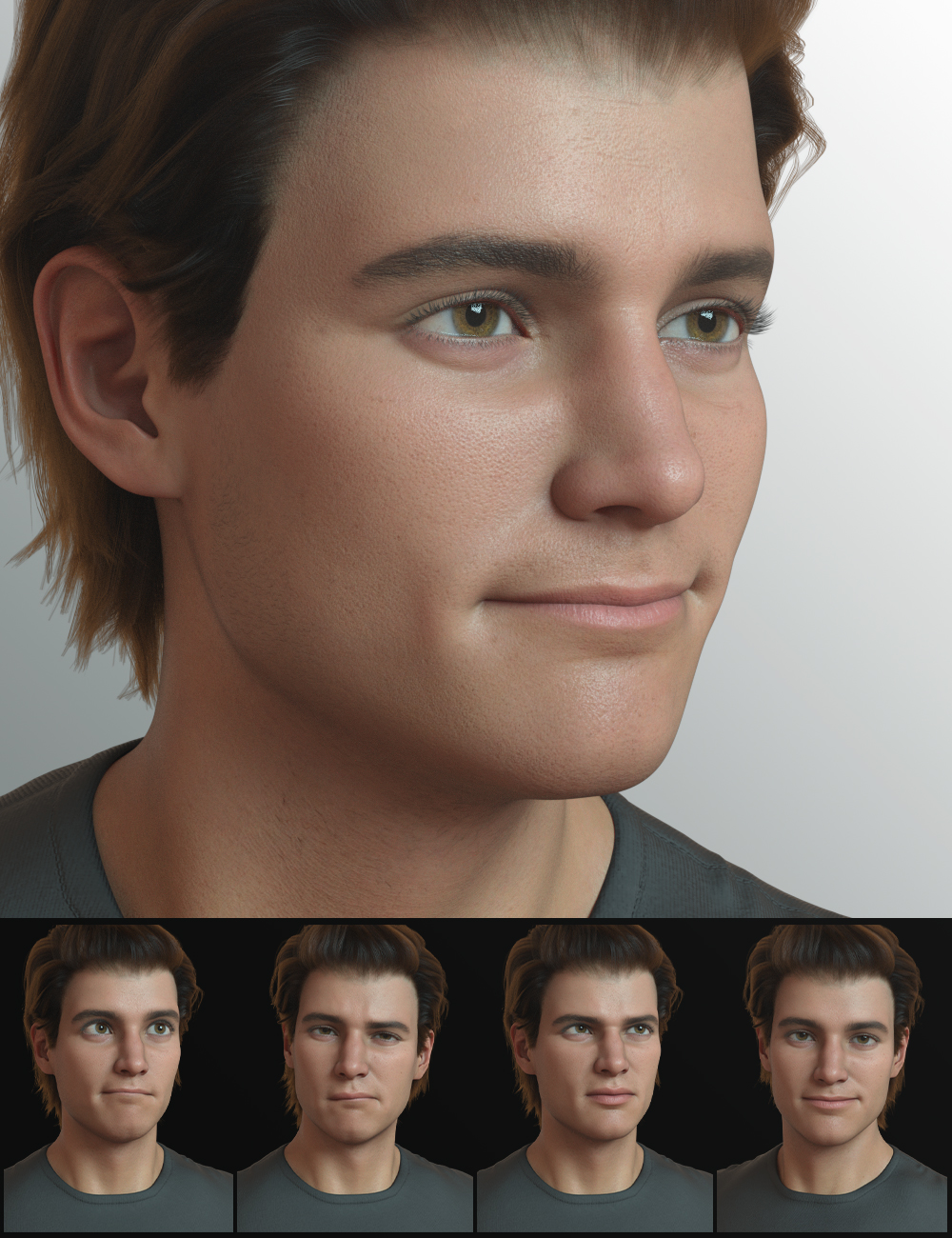 The Expression Collection for Michael 8.1 by: Quixotry, 3D Models by Daz 3D