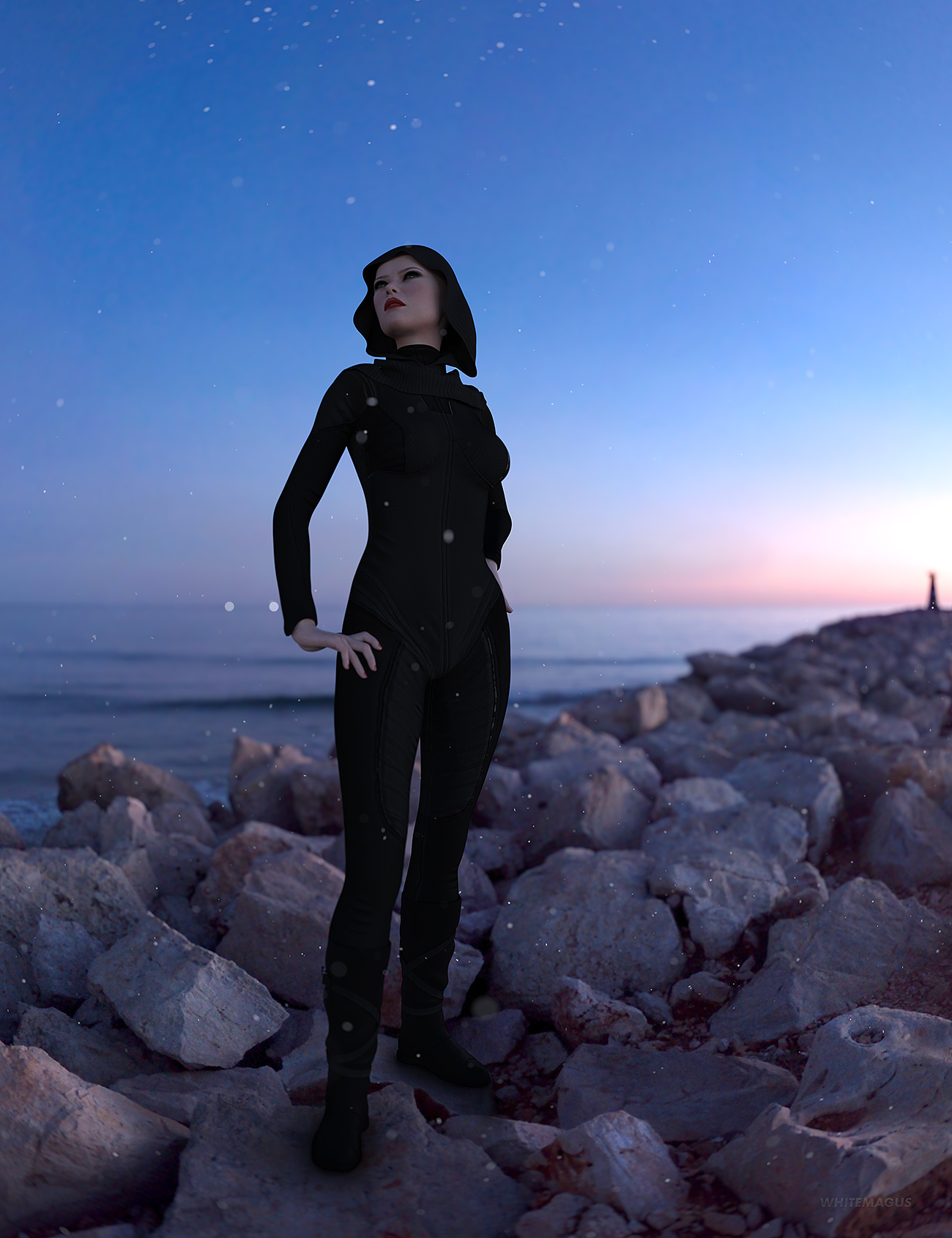 HDRI Night Mix by: Whitemagus, 3D Models by Daz 3D