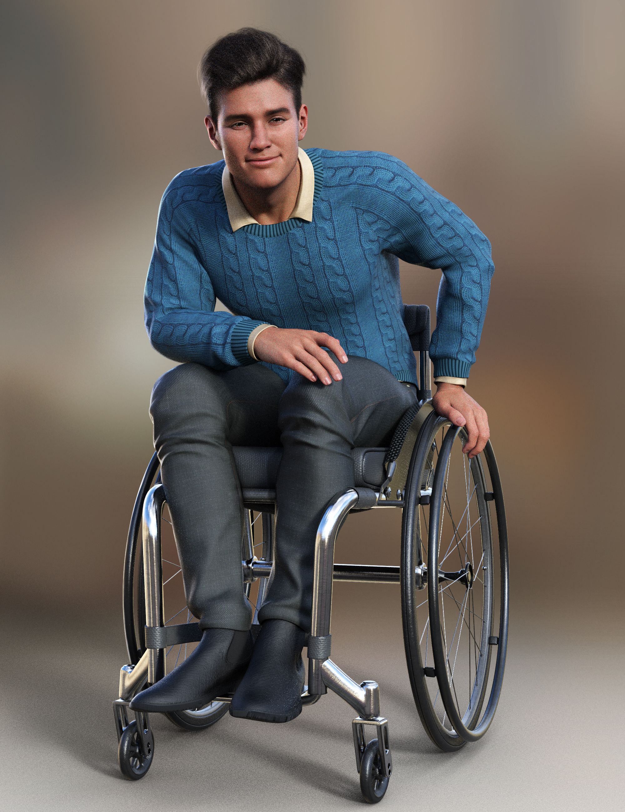 Everyday Wheelchair Animations for Genesis 8.1 Male and Michael 8.1 by: ThreeDigital, 3D Models by Daz 3D