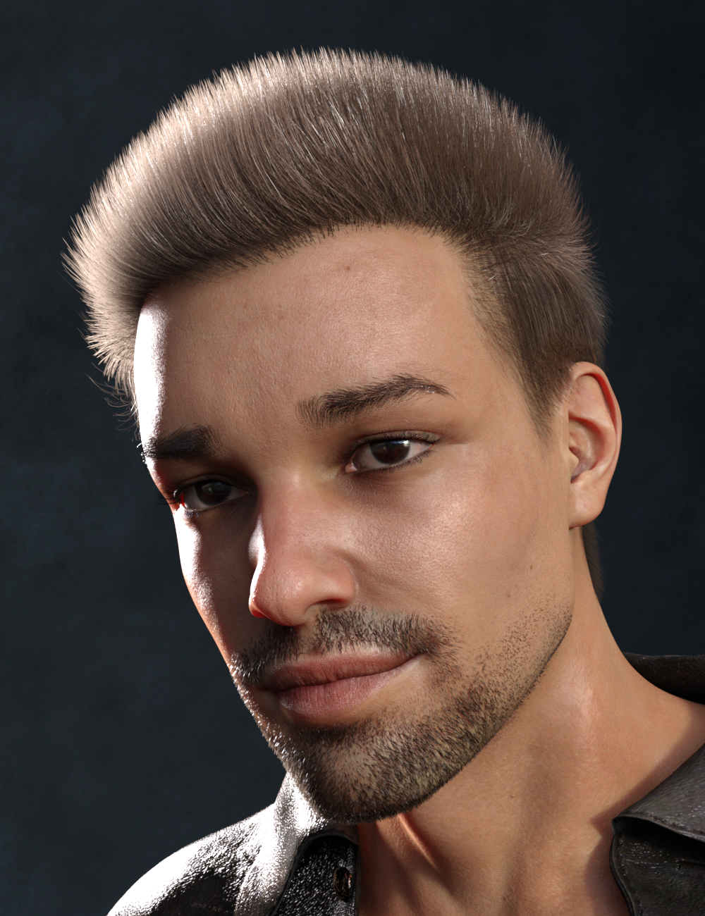 Wilson Hair for Genesis 8 Males by: Vyusur, 3D Models by Daz 3D