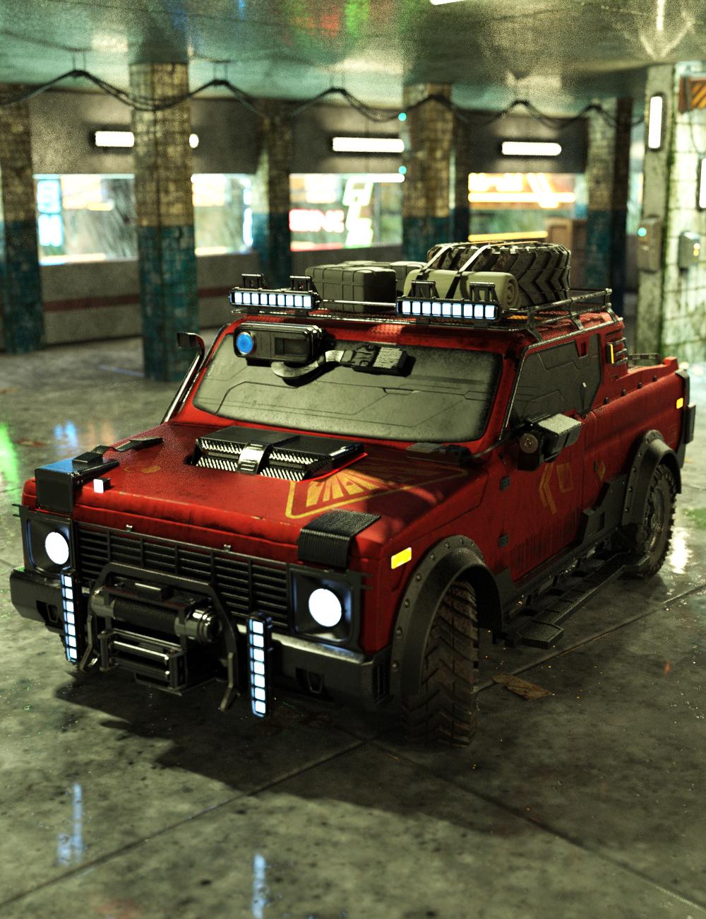 Cyberpunk Pickup Truck by: Charlie, 3D Models by Daz 3D