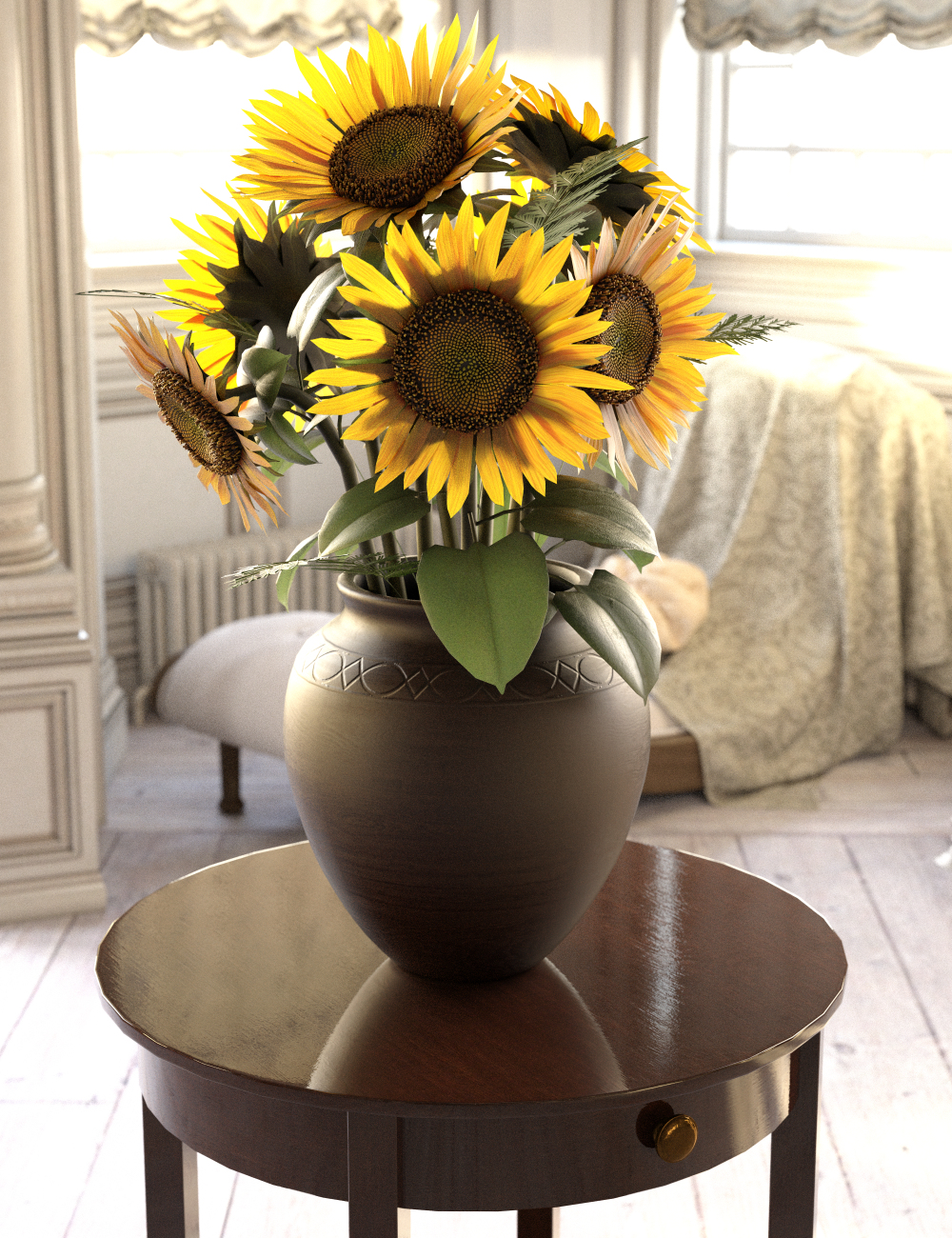 Sunflower Adornment by: Merlin Studios, 3D Models by Daz 3D