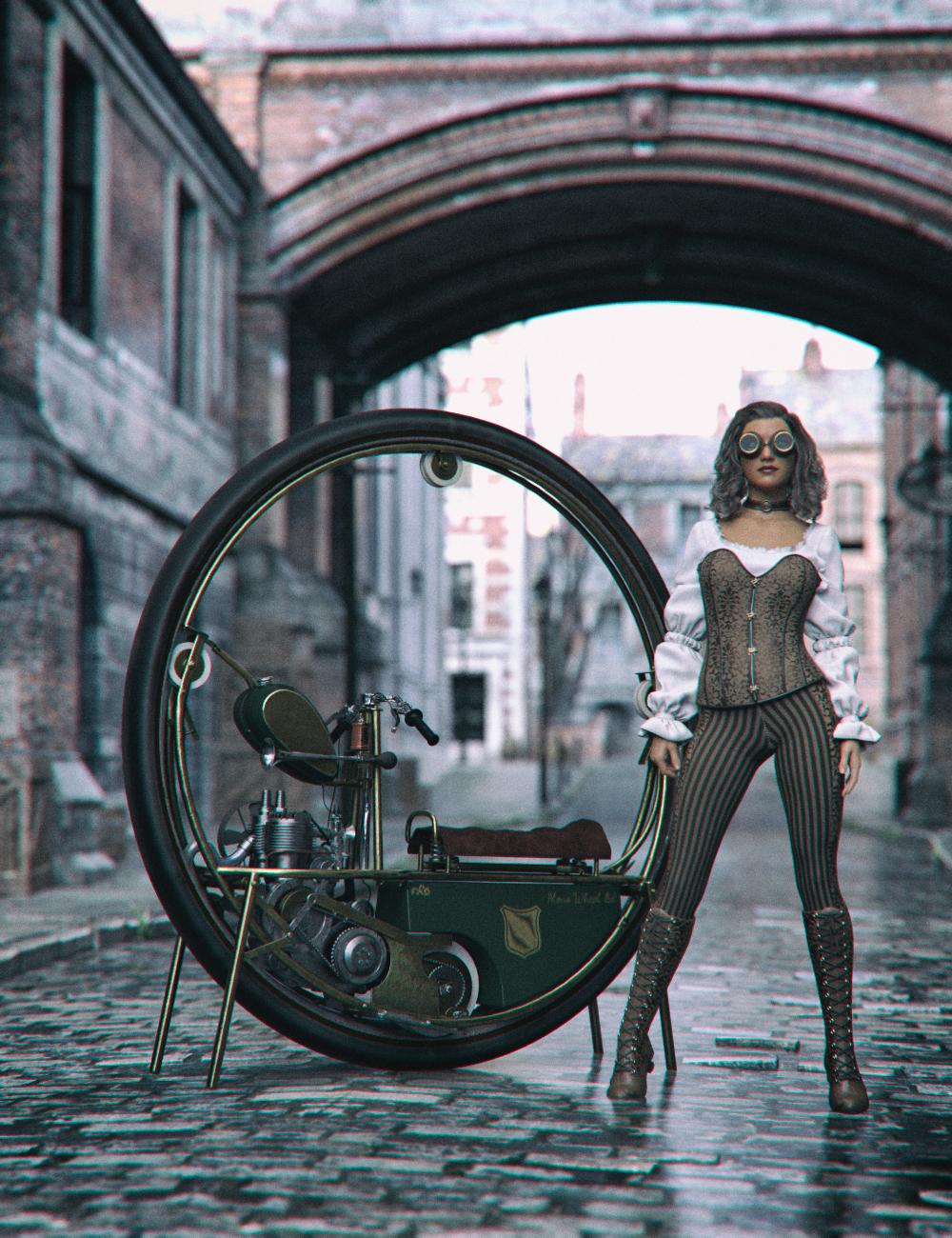 Steampunk MonoWheel by: Mely3D, 3D Models by Daz 3D