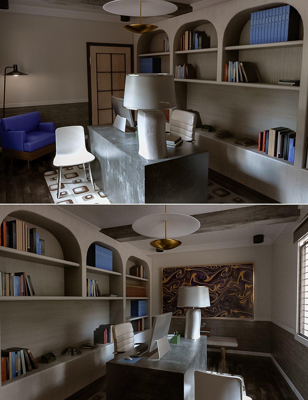 Avil Office Room by: Tesla3dCorp, 3D Models by Daz 3D
