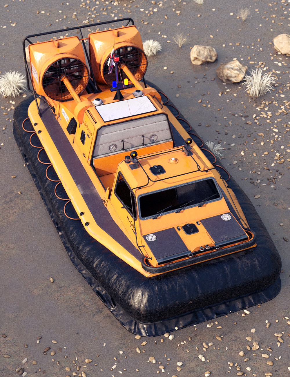 Rescue Hovercraft by: ForbiddenWhispersDavid Brinnen, 3D Models by Daz 3D