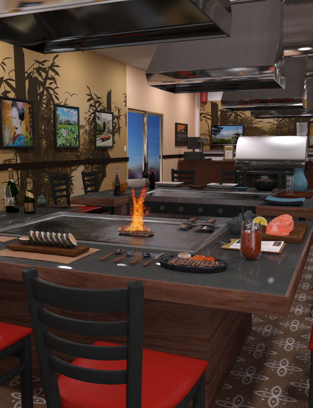 FG Japanese Steak House by: Fugazi1968Ironman, 3D Models by Daz 3D