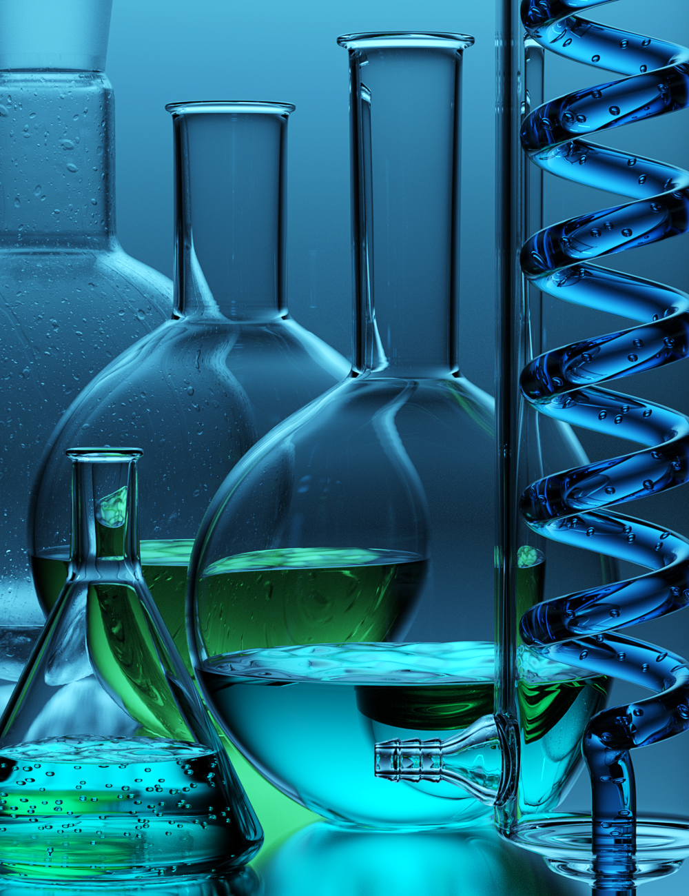 DD Science Lab Glassware by: Digital Delirium, 3D Models by Daz 3D