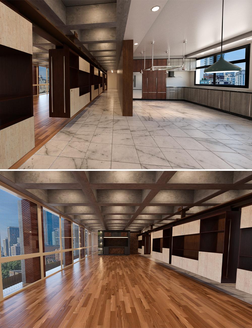 Tesla3dcorp Open Apartment Environment by: Tesla3dCorp, 3D Models by Daz 3D