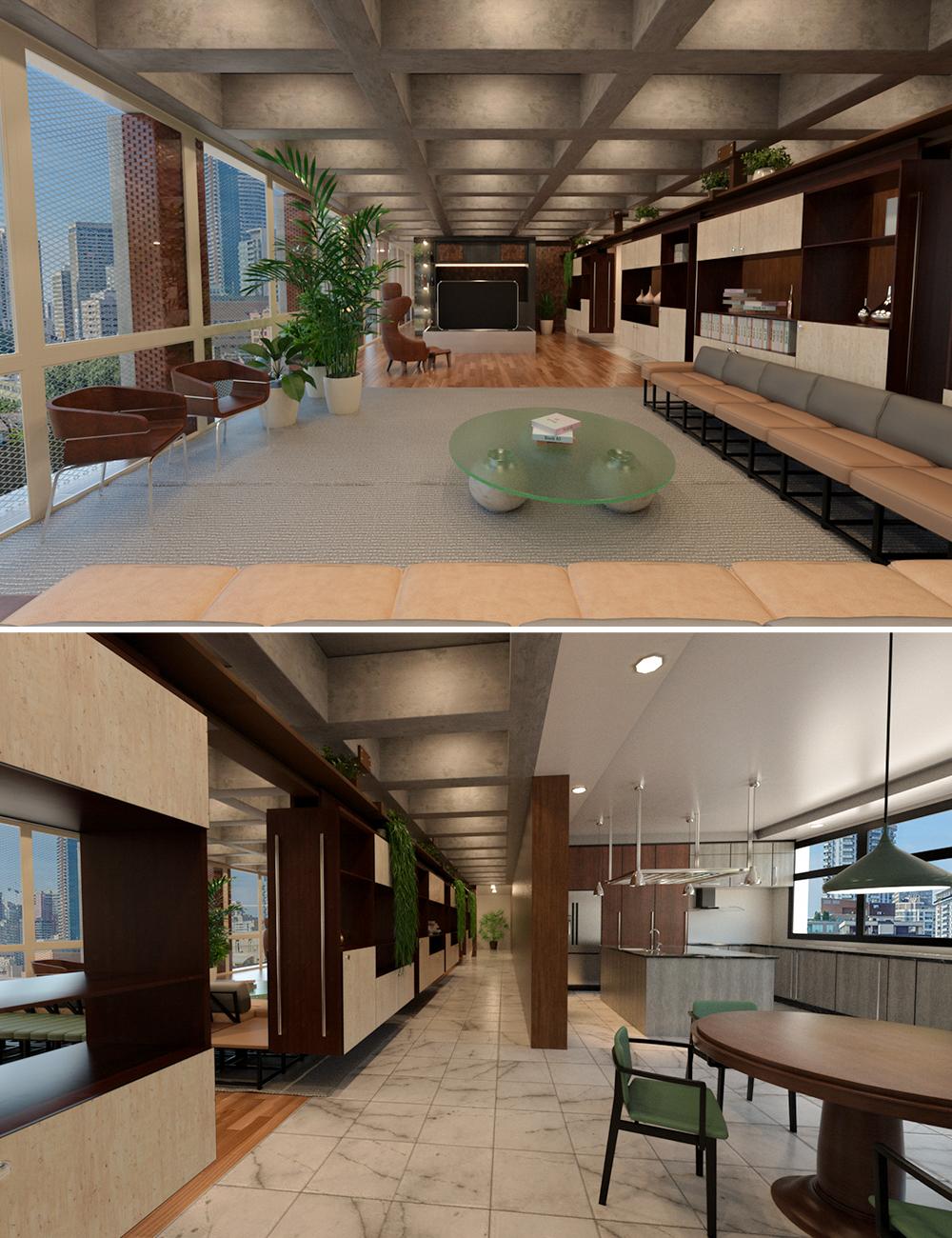 Tesla3dcorp Open Apartment by: Tesla3dCorp, 3D Models by Daz 3D