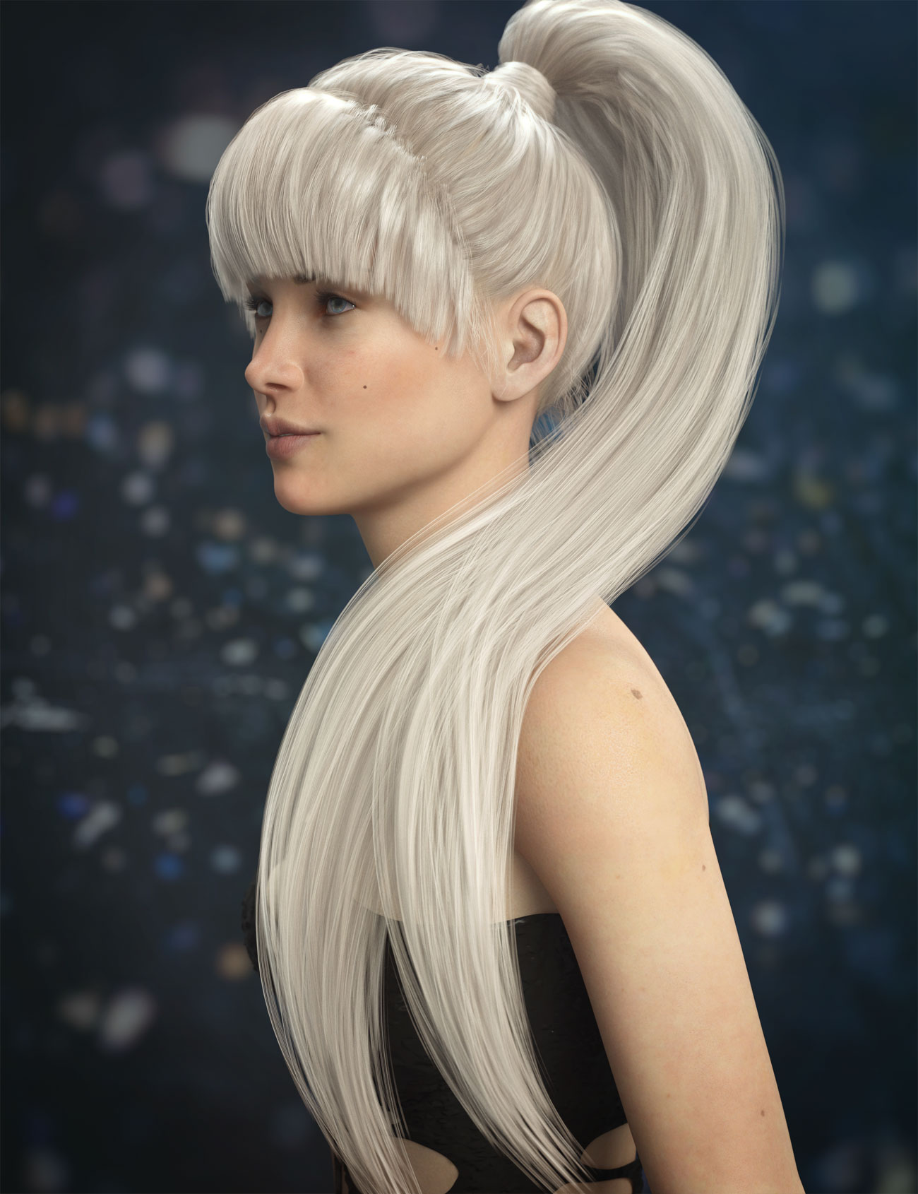 Qiana Hair for Genesis 3 and 8 Females by: AprilYSH, 3D Models by Daz 3D