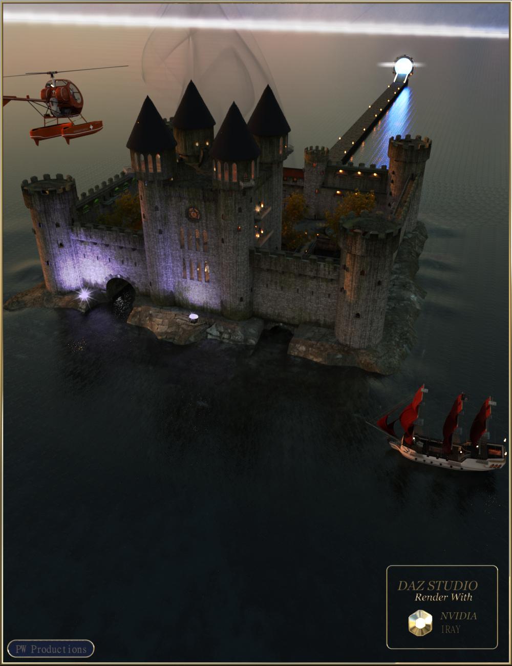 PW World of Tempus Castle by: PW Productions, 3D Models by Daz 3D