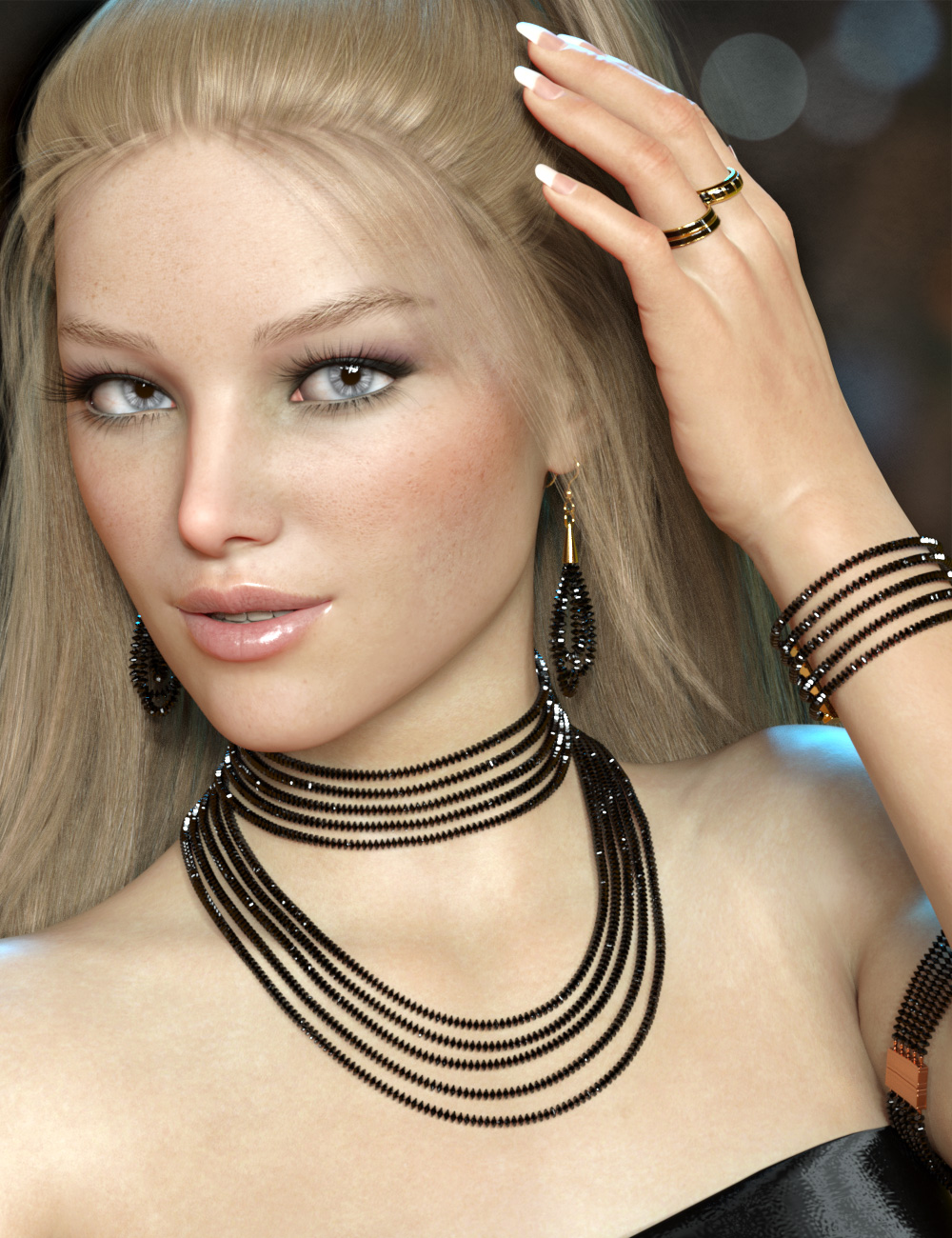 Sparkling Jewelry for Genesis 8 and 8.1 Females by: esha, 3D Models by Daz 3D