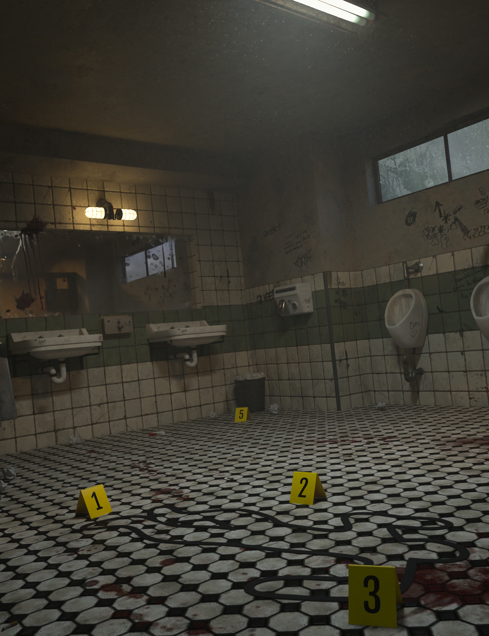 Criminal Case: Bathroom by: 3dLab, 3D Models by Daz 3D