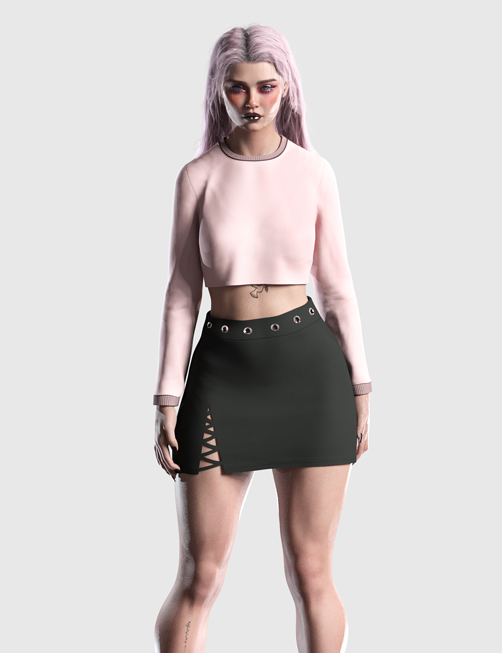 DFORCE CASUAL CROP OUTFIT FOR GENESIS 8 FEMALES