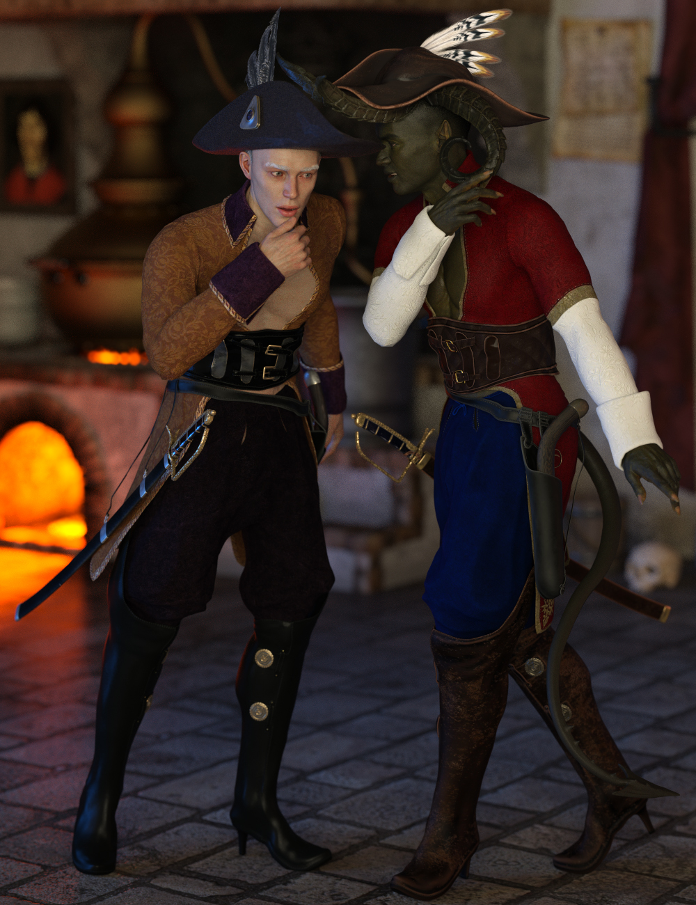 Torridus Outfit Texture Expansion by: Anna Benjamin, 3D Models by Daz 3D