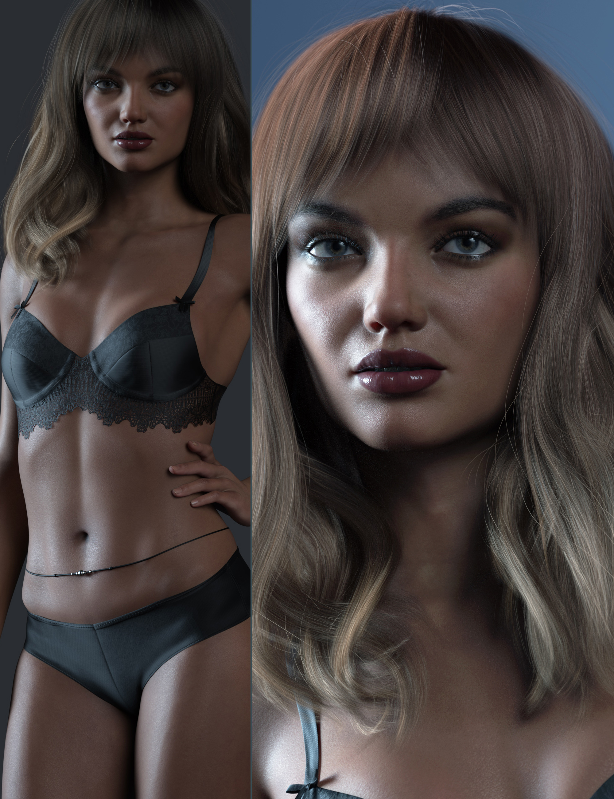 RY Inessa Character, Hair and Render Bundle by: outoftouchRaiya, 3D Models by Daz 3D
