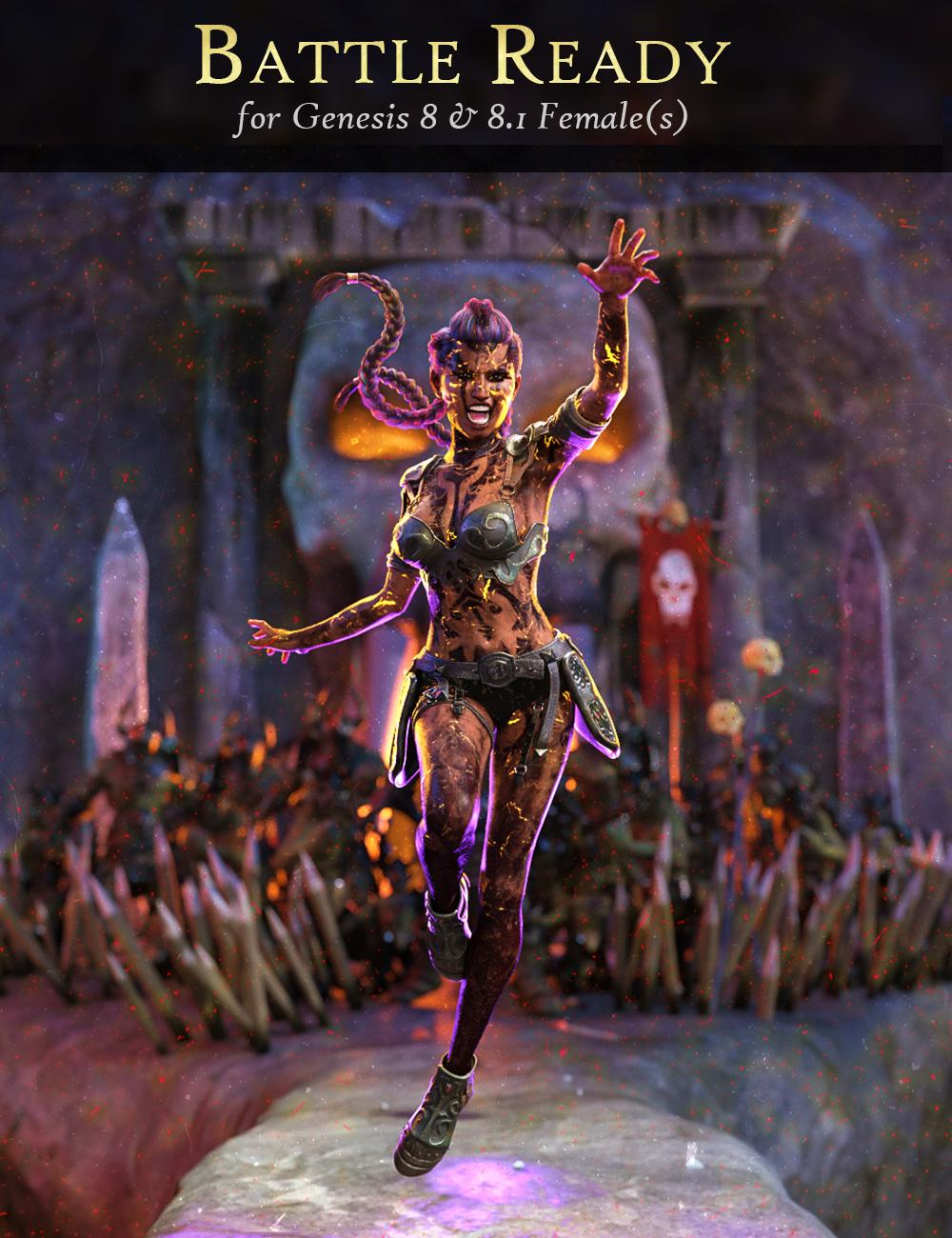Battle Ready for Genesis 8 and 8.1 Females by: FenixPhoenixEsid, 3D Models by Daz 3D