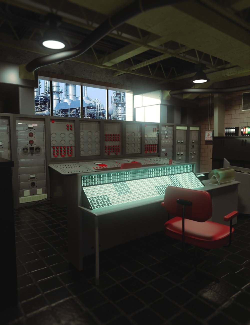 Retro Control Room by: PerspectX, 3D Models by Daz 3D