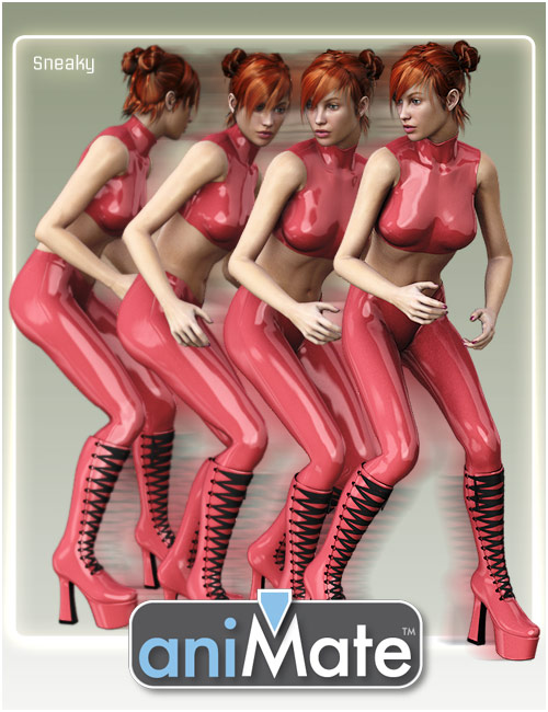 aniMate Walk Styles 1 by: GoFigure, 3D Models by Daz 3D