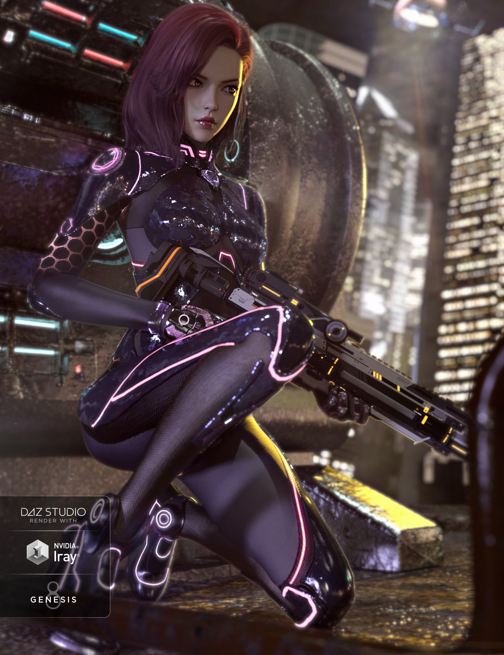 CR Sci-fi Suit for Genesis 8 Females by: Crocodile Liu, 3D Models by Daz 3D