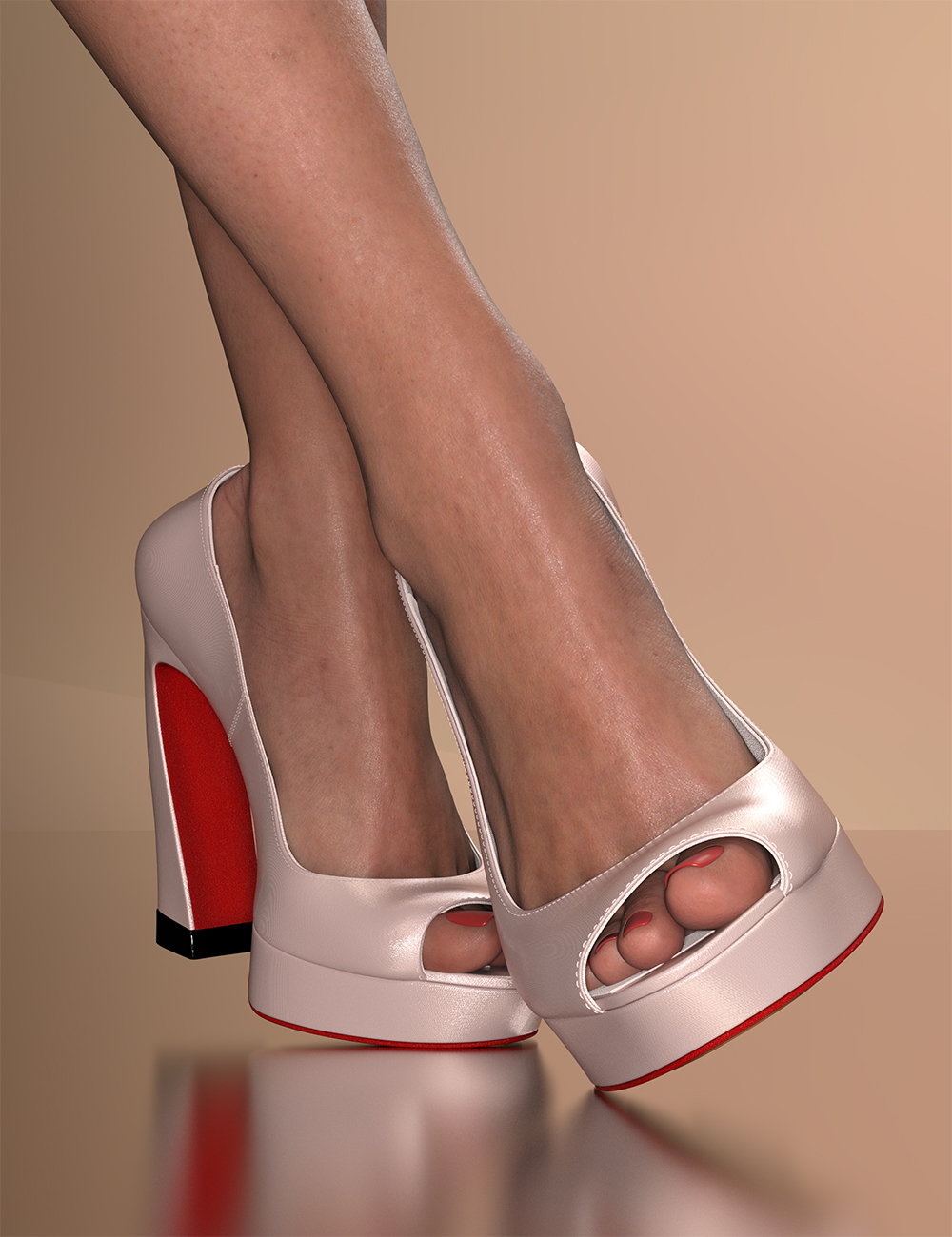Fashion Basics: Paris Runway Heels for Genesis 8.1 Female and Victoria 8.1 by: 3DStyle, 3D Models by Daz 3D
