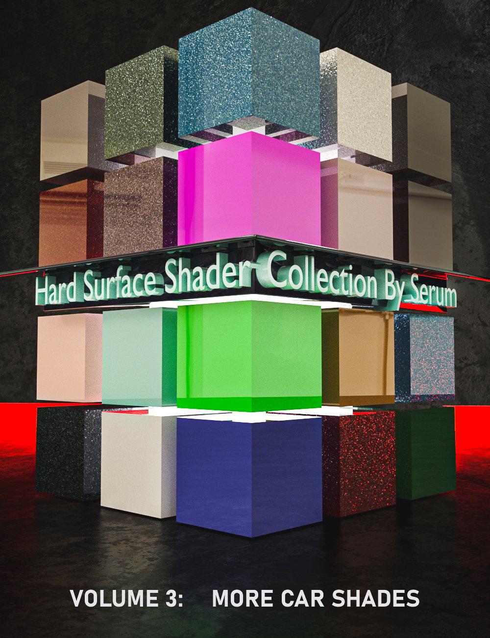 Iray Hard Surface Shaders Volume Three More Car Shades by: Serum, 3D Models by Daz 3D