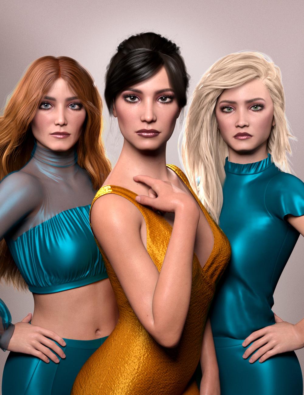 AHArt Unique Faces for Genesis 8.1 by: AHArt, 3D Models by Daz 3D