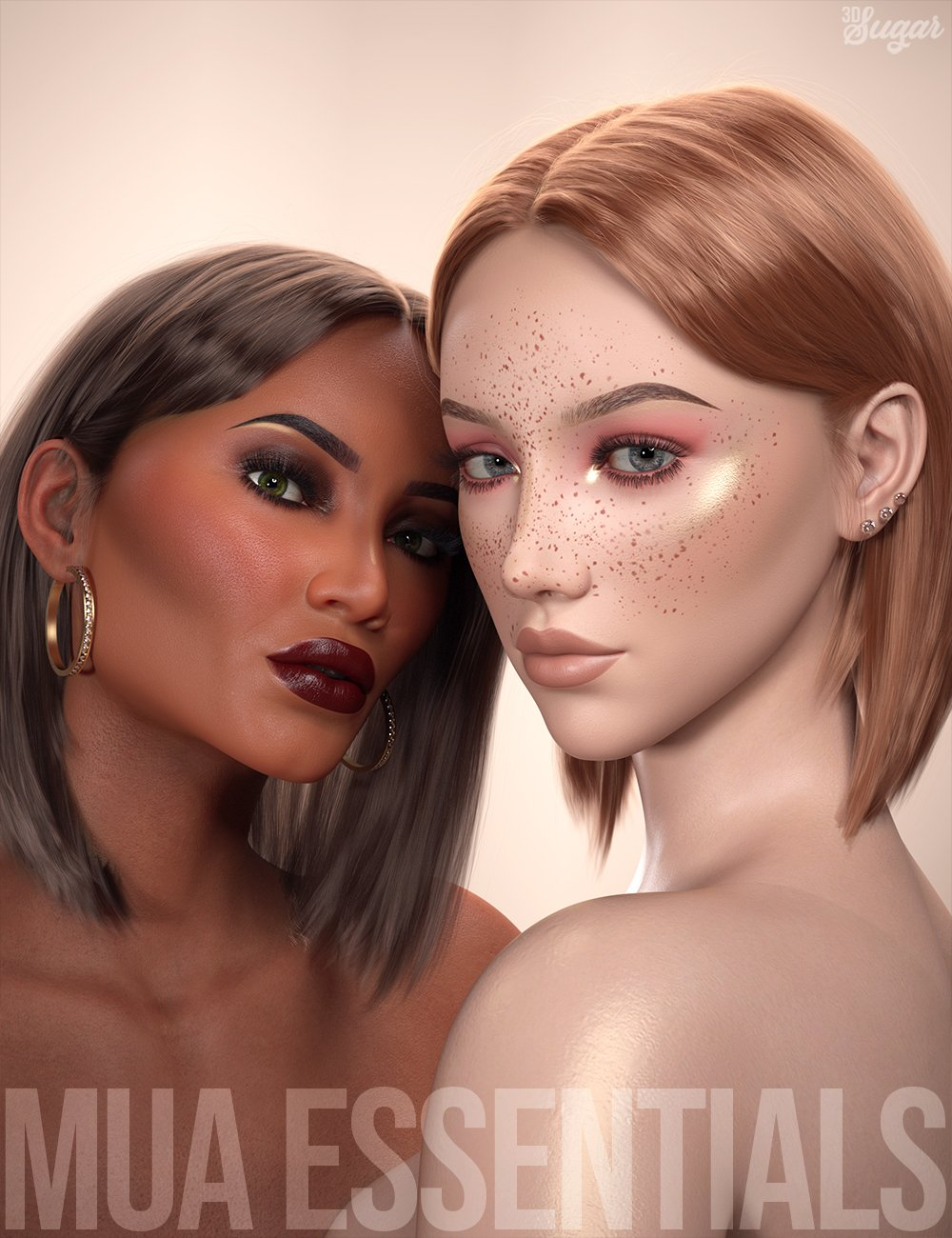 Makeup Artist Essentials L.I.E Poses and Expressions by: 3D Sugar, 3D Models by Daz 3D