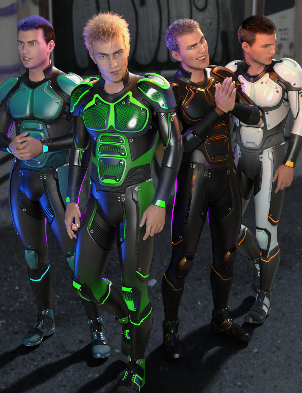 OMNI Suit for Genesis 8 and 8.1 Male by: InklingStargazer, 3D Models by Daz 3D