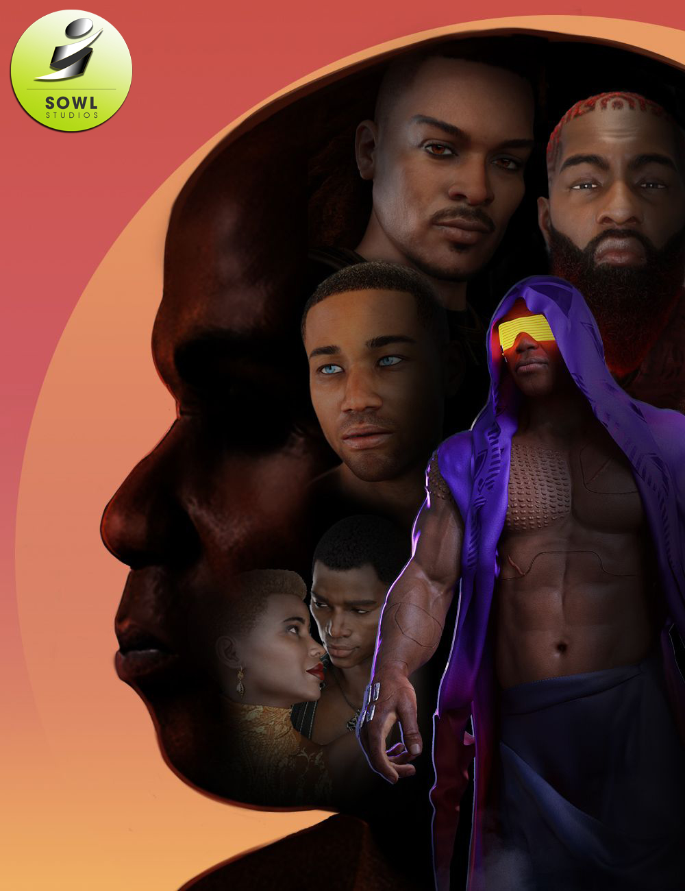 Celebrate Black Men Sowl Studios Picks by: , 3D Models by Daz 3D