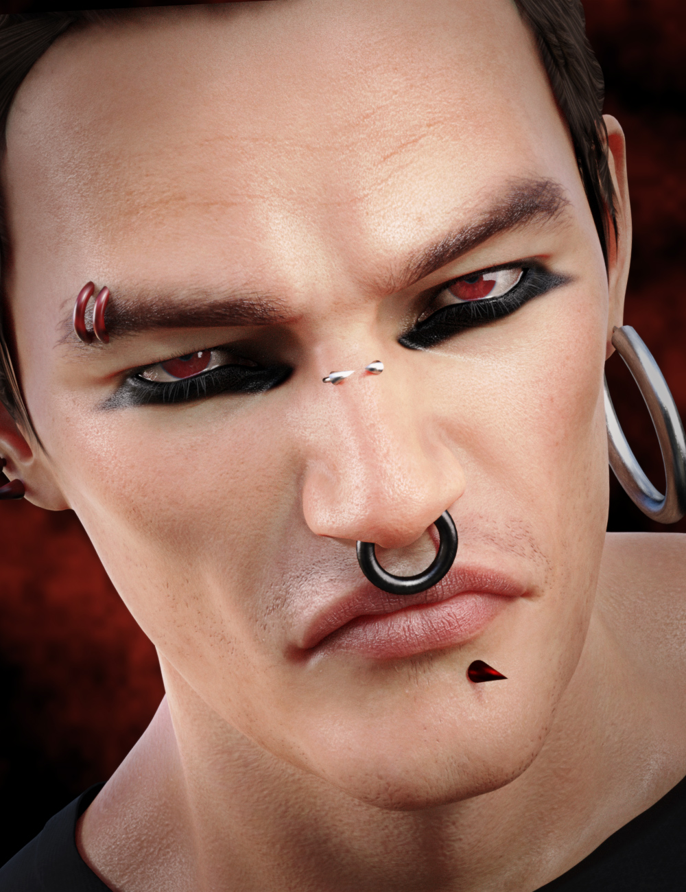 Devilish Piercing for Genesis 8 and 8.1 Males by: Neikdian, 3D Models by Daz 3D