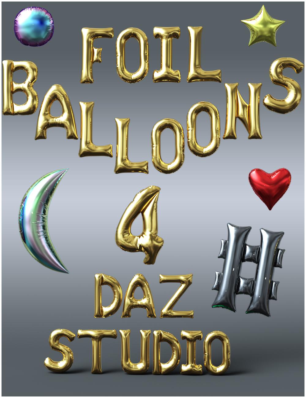 Foil Balloons Props by: Nikisatez, 3D Models by Daz 3D