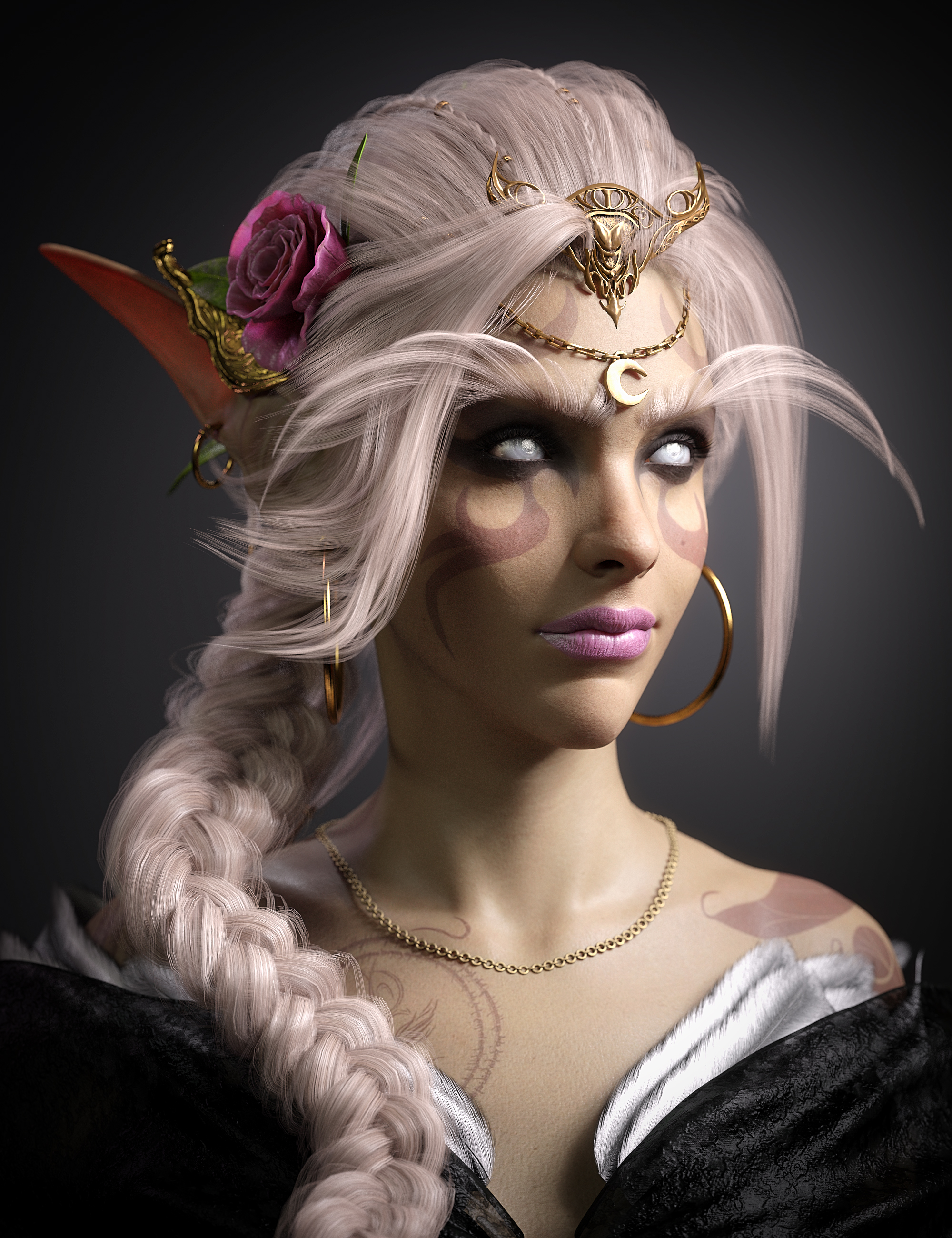 White Priestess 8.1 HD by: , 3D Models by Daz 3D