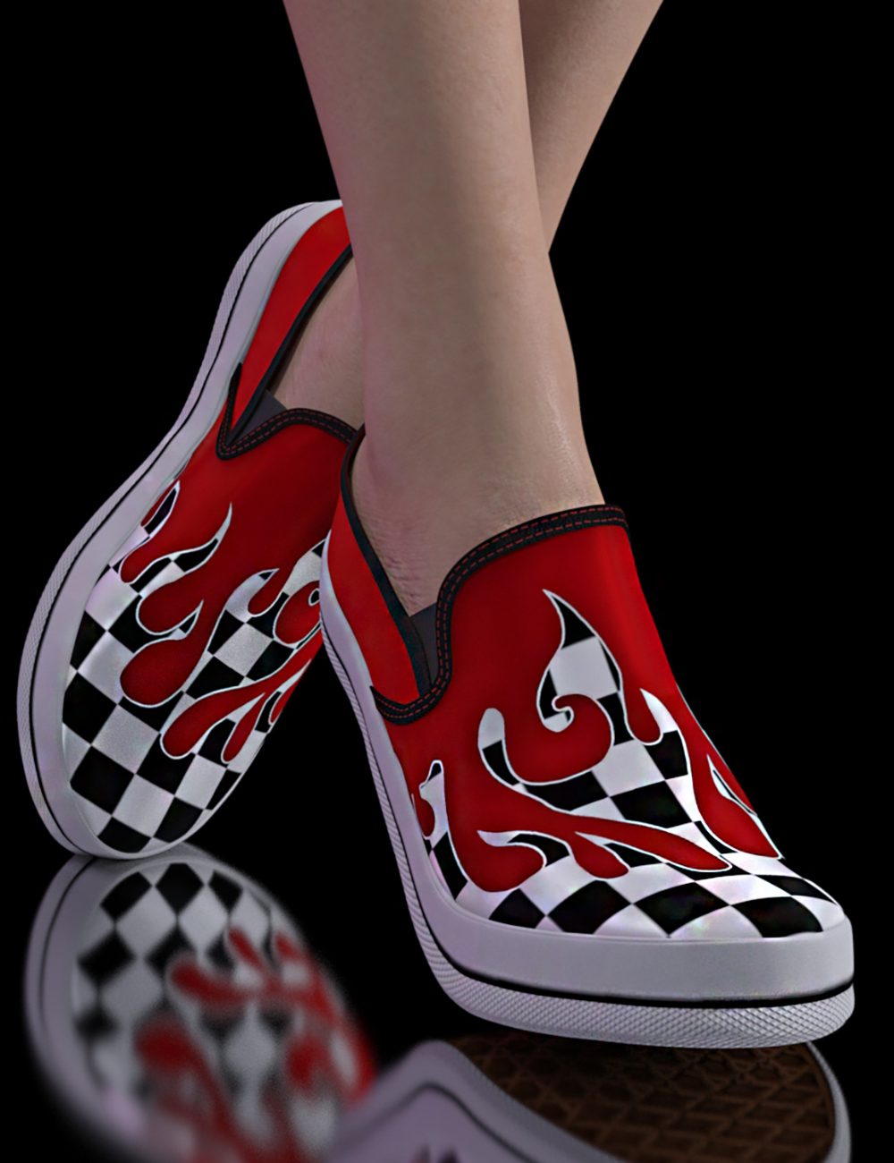 Sneakers for Genesis 8.1 & Victoria 8.1 by: 3DStyle, 3D Models by Daz 3D