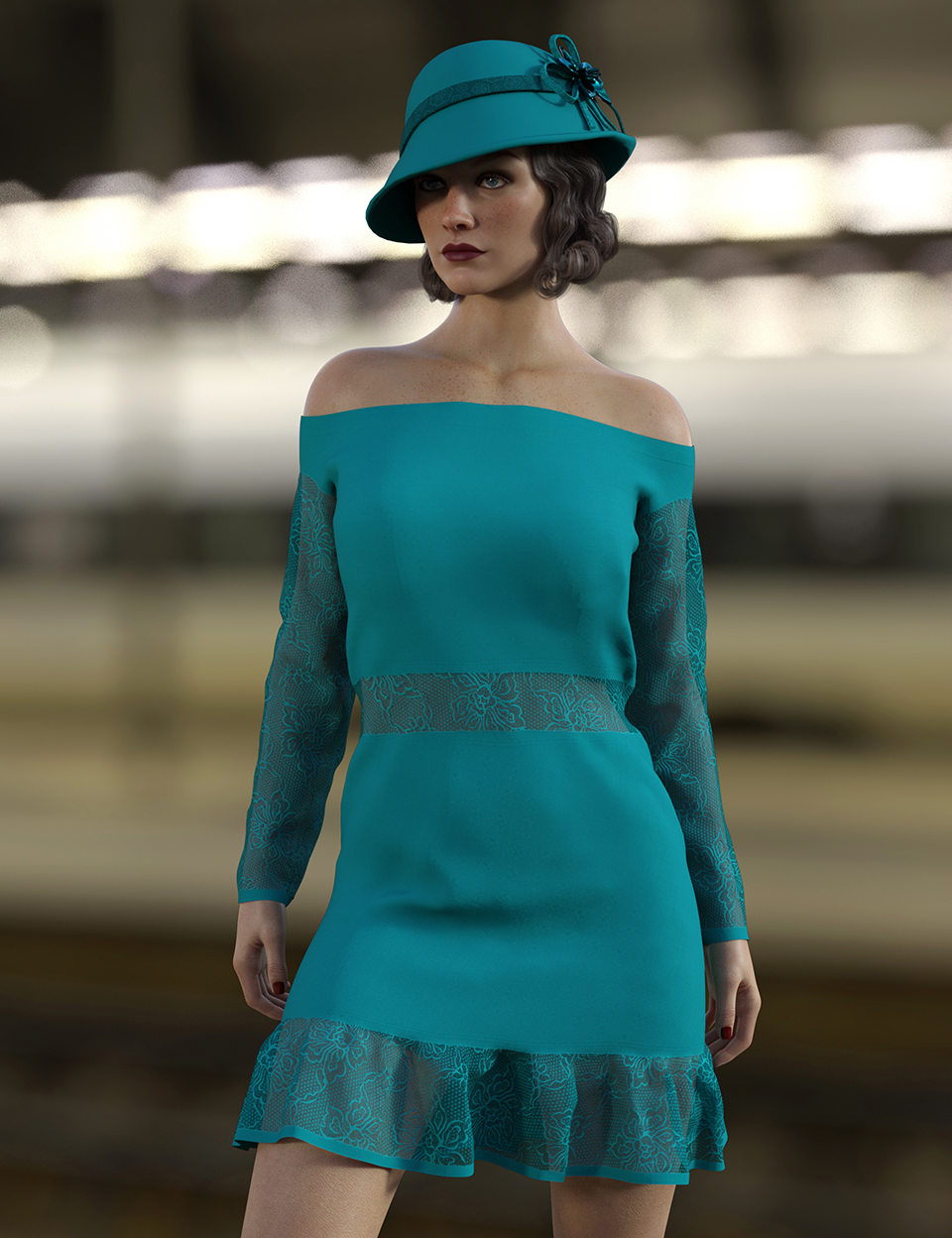 dForce Abby Outfit for Genesis 8 Females by: Nelmi, 3D Models by Daz 3D
