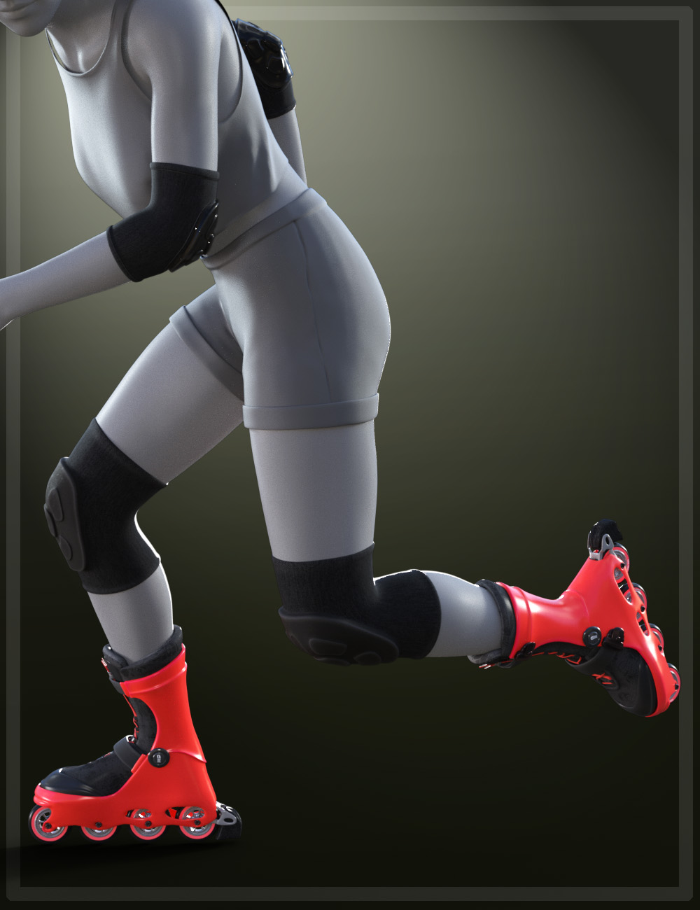 Roller Blade for Genesis 8 and 8.1 Females by: tentman, 3D Models by Daz 3D
