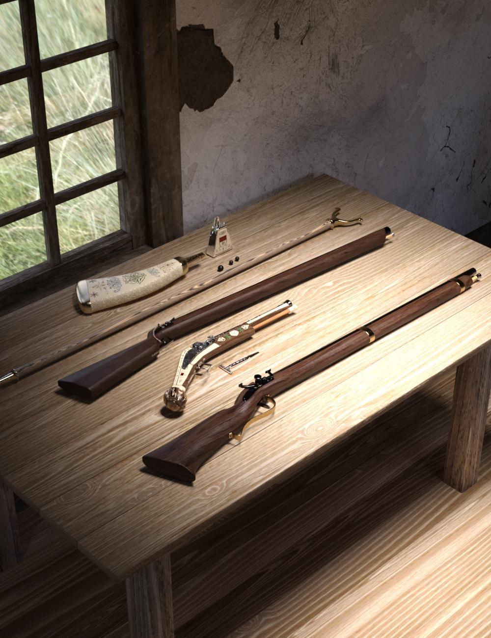 Renaissance Firearms Set by: Falcontruth, 3D Models by Daz 3D