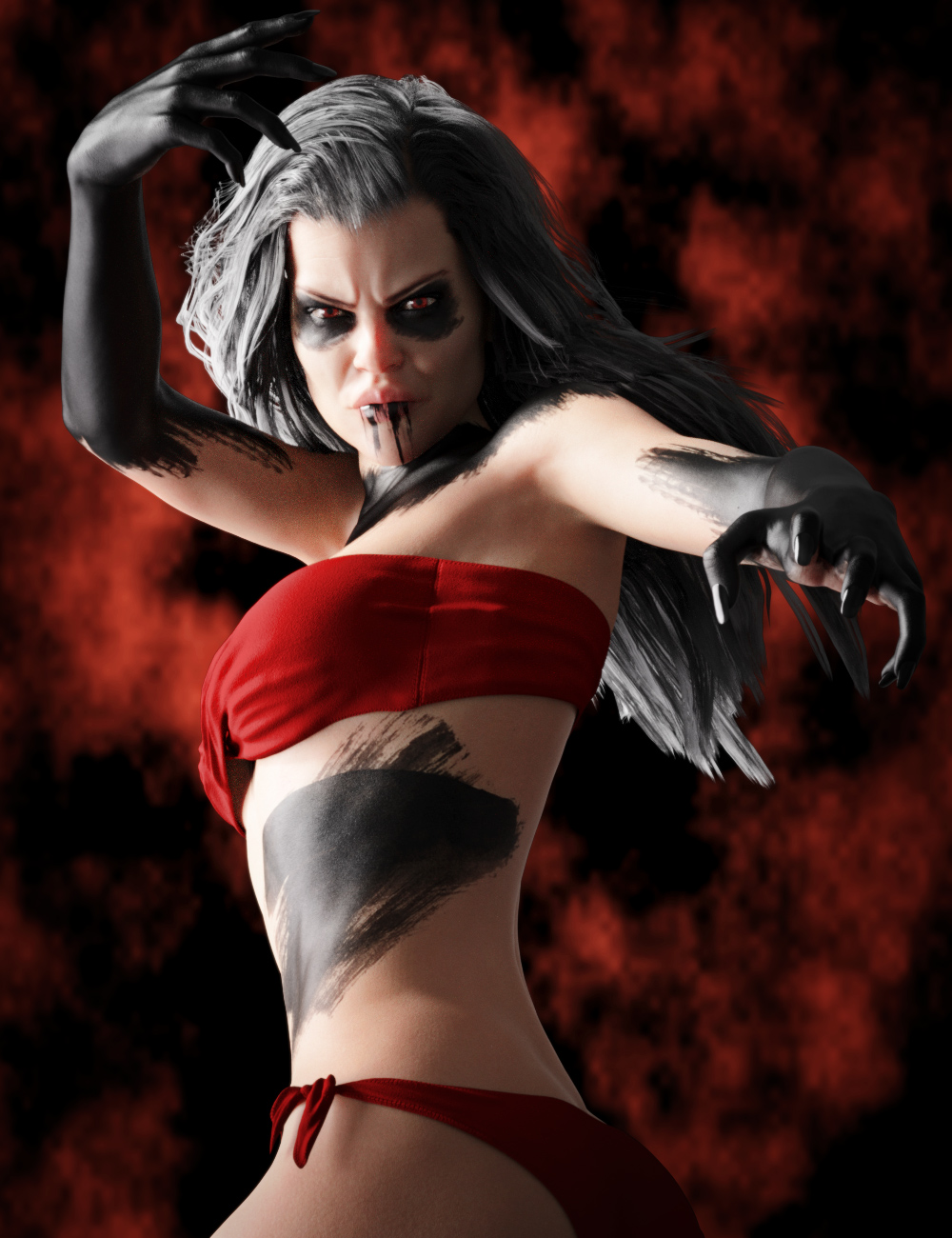 Devilish Makeup for Genesis 8 and 8.1 by: Neikdian, 3D Models by Daz 3D