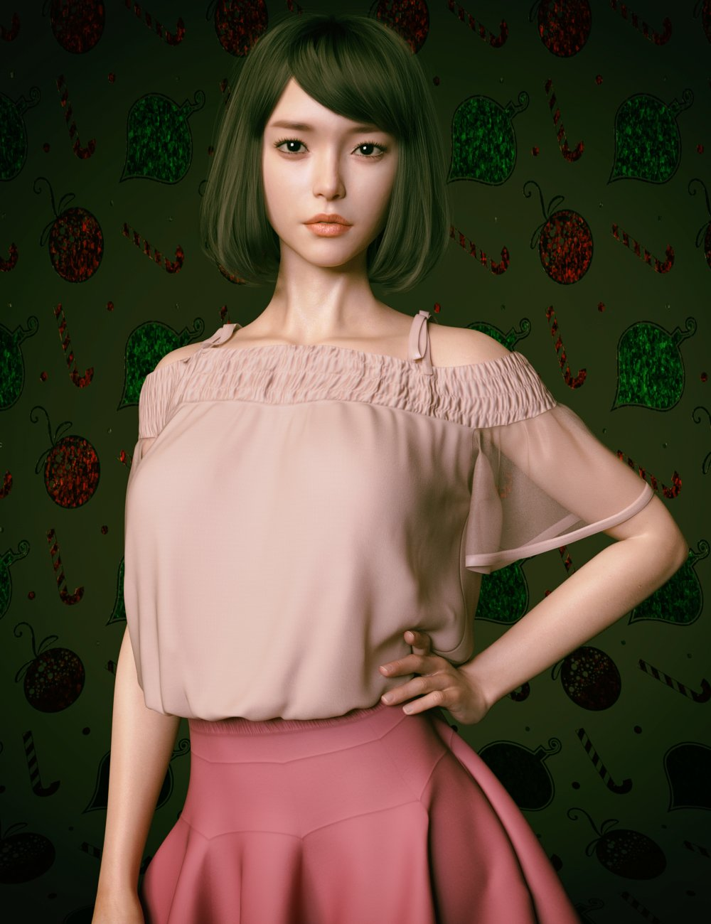 Shirley Lee Character with Hair for Genesis 8 and 8.1 Female by: GoannaSprite, 3D Models by Daz 3D