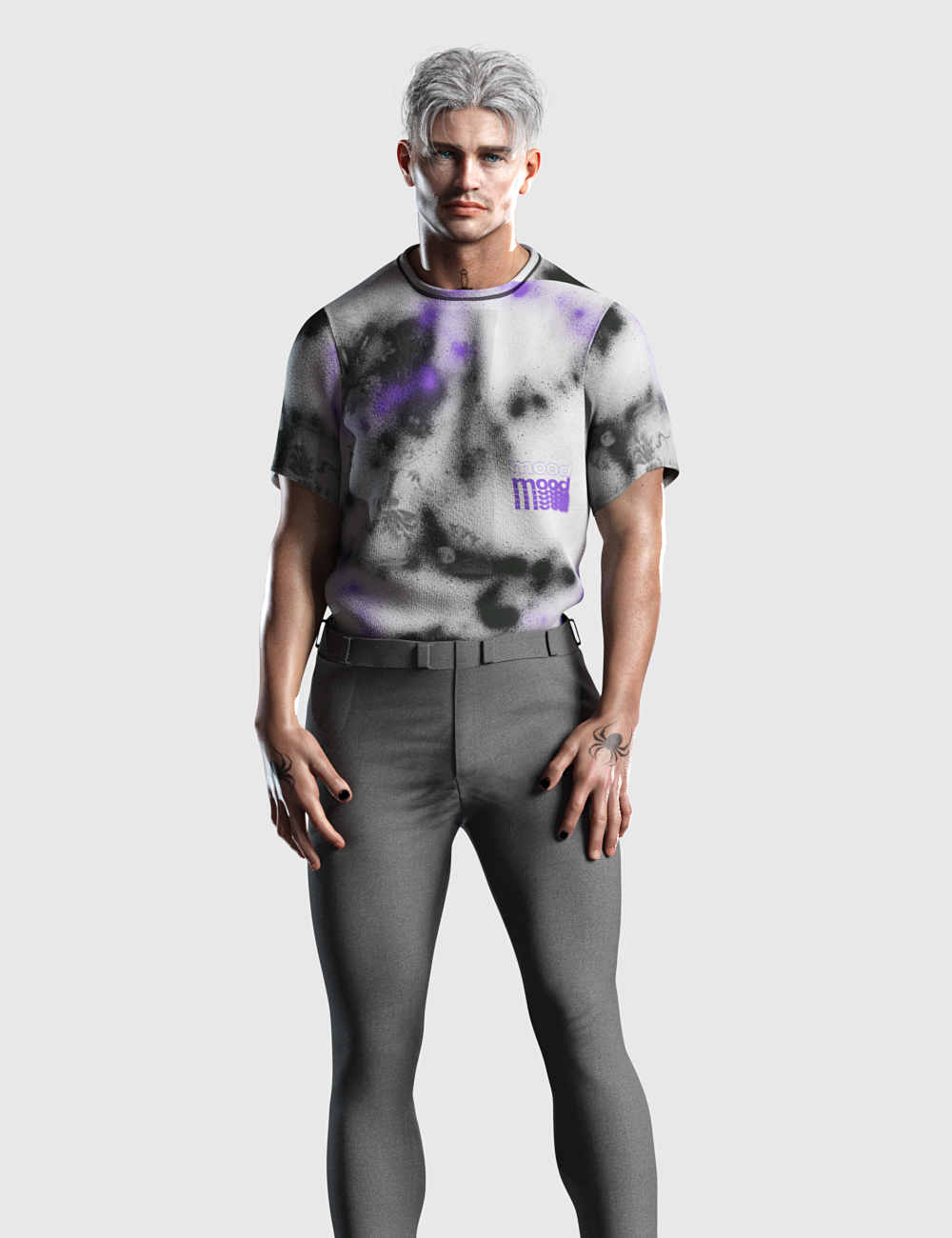 dForce Tucked Tee Textures by: Romeo, 3D Models by Daz 3D
