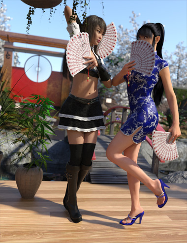 Props and Poses Converter from Genesis 2 Female to Genesis 8 Female by: RiverSoft Art, 3D Models by Daz 3D